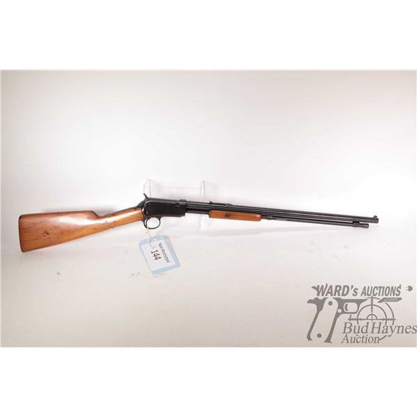 """Non-Restricted rifle Winchester model 1906, .22 short pump action, w/ bbl length 19 3/8"""" [Blued barr"""