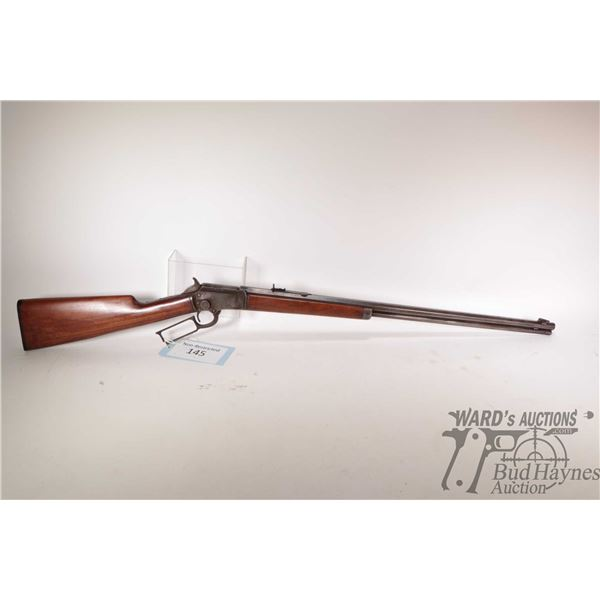 """Non-Restricted rifle Marlin model 1897, .22 lever action, w/ bbl length 24"""" [Blued octagonal barrel,"""