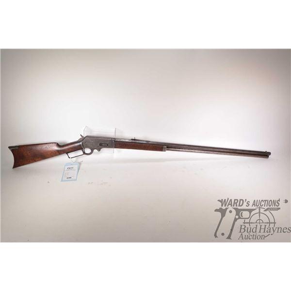 """Non-Restricted Marlin 1893 Non-Restricted Marlin model 1893 30-30 w/ bbl length 30"""" serial # 201415."""