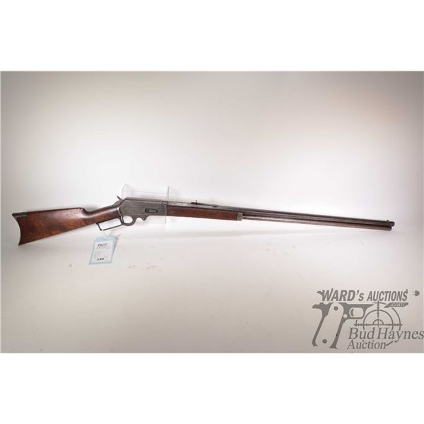 """Non-Restricted rifle Marlin model 1893, 30-30 lever action, w/ bbl length 30"""" [Blue octagonal barrel"""