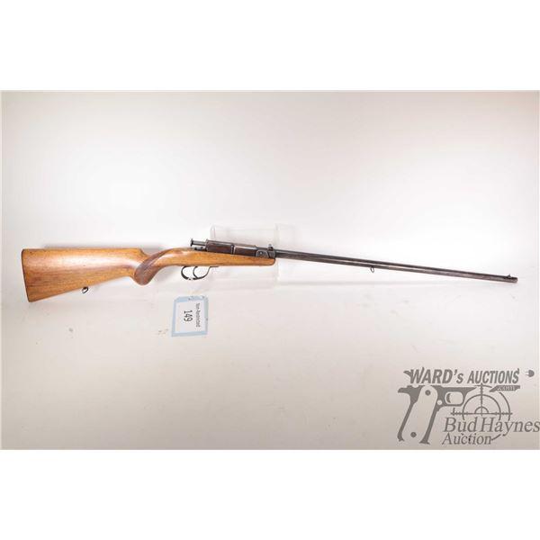 Non-Restricted rifle Deutsche Werke Erfurt model Mod. 1, .22 LR Single shot Tip up breech, w/ bbl le