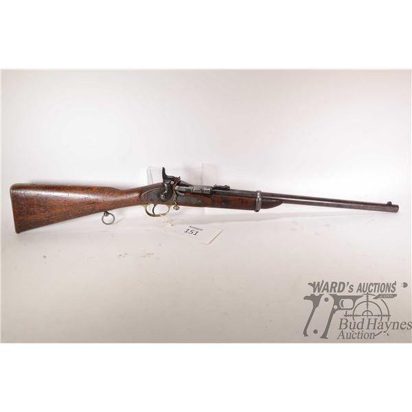 Antique rifle Snider Enfield model MK III Cavalry, 577 Snider single shot breech block, w/ bbl lengt