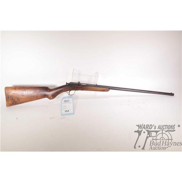 Non-Restricted rifle Belgium Pieper Bayard model Single Shot, .22 Single shot bolt action, w/ bbl le