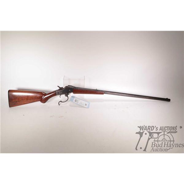 Non-Restricted rifle Hopkins & Allen model Falling Block, .32-40 Single shot falling block, w/ bbl l