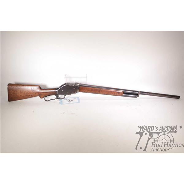 "Non-Restricted shotgun Winchester model 1910, 10 Ga lever action, w/ bbl length 28"" [Blued barrel an"