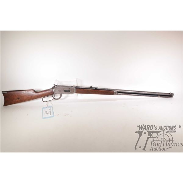 """Non-Restricted rifle Winchester model 1894, 38-55 lever action, w/ bbl length 26"""" [Blued round barre"""
