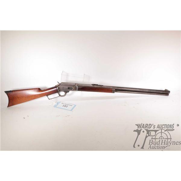 """Non-Restricted Marlin 1894 Non-Restricted Marlin model 1894 38-40 w/ bbl length 24"""" serial # 116272."""