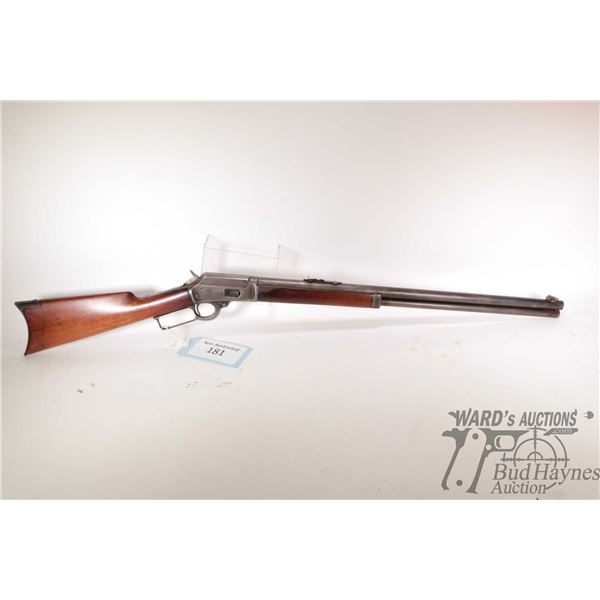 """Non-Restricted rifle Marlin model 1894, 38-40 lever action, w/ bbl length 24"""" [Blued round barrel, r"""