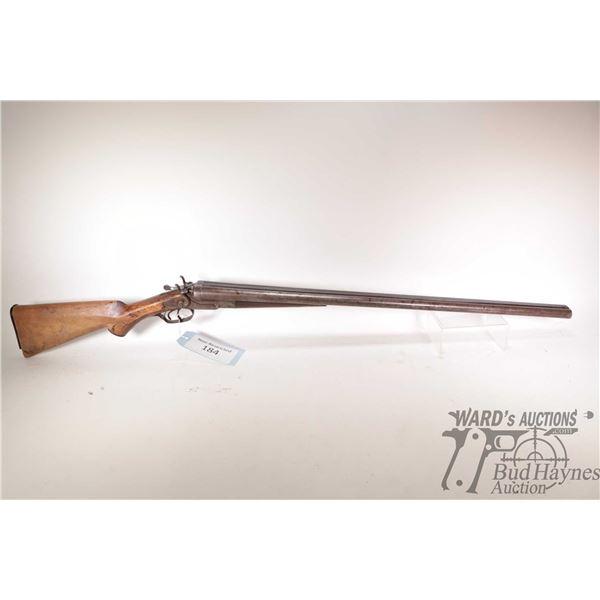 """Non-Restricted shotgun Neumann Bros model SXS, 12Ga two shot hinge break, w/ bbl length 30"""" [Blued D"""