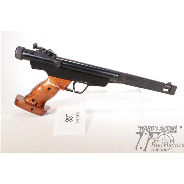 No Pal Req. air pistol RWS Diana model 6 (365 FPS), 4.5/.177 Single shot hinge break, w/ bbl length