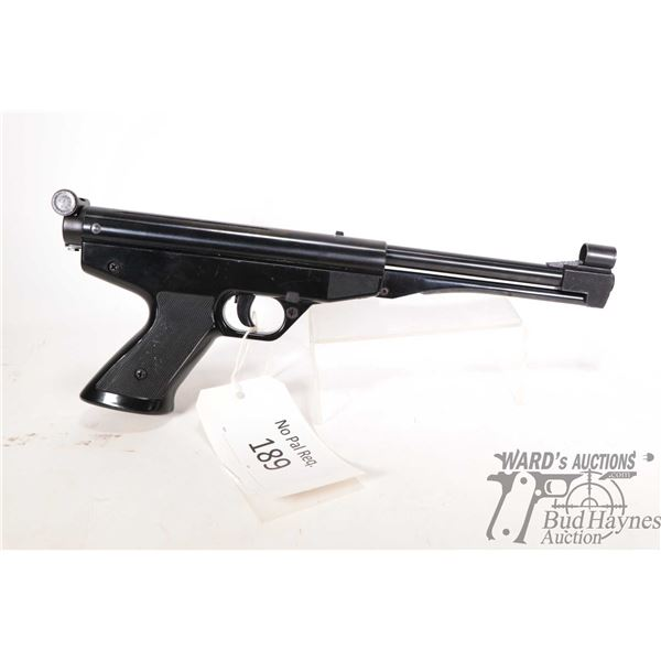 "No Pal Req. air pistol Gamo model Center (350 FPS), 4.5/.177 Single shot w/ bbl length 7 1/4"" [Black"