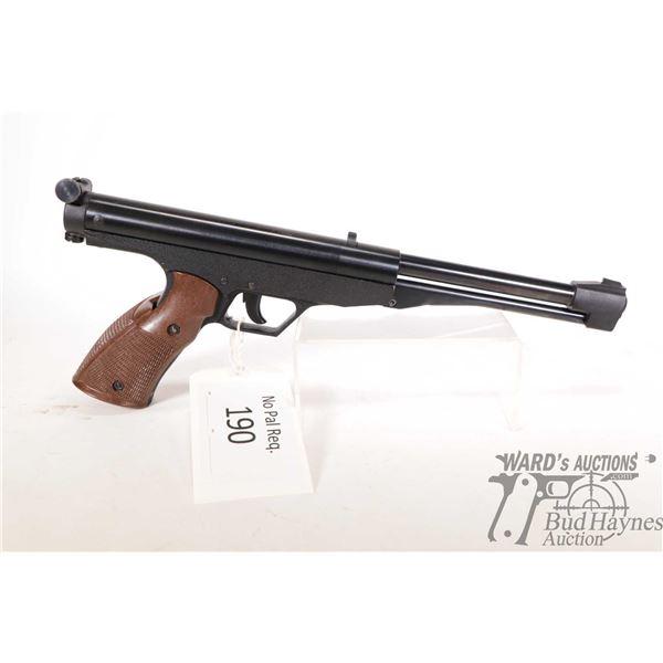 "No Pal Req. air pistol Gamo model Falcon, 4.5/.177 Single shot w/ bbl length 7 1/4"" [Black finish wi"