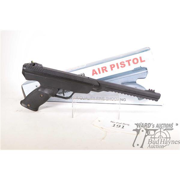"No Pal Req. air pistol Xisico model XSP180 (400), 4.5/.177 Single shot hinge break, w/ bbl length 9"""