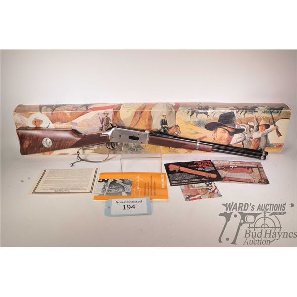 """Non-Restricted rifle Winchester model 94 (John Wayne Comm.), 32-40 lever action, w/ bbl length 18"""" ["""