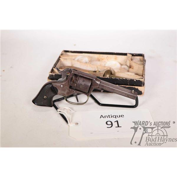 Antique handgun Remington model 1858 Rider Pocket Revolve, .31 Perc. five shot double action revolve