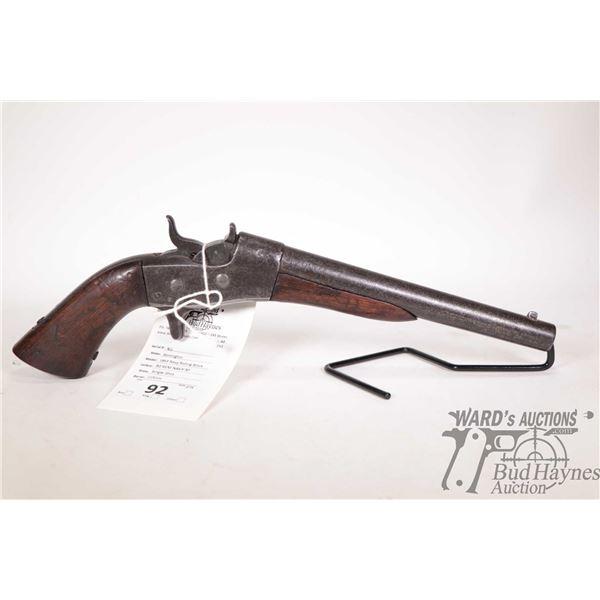 Antique handgun Remington model 1865 Navy Rolling Block, 50 REM NAVY RF Single Shot rolling block, w
