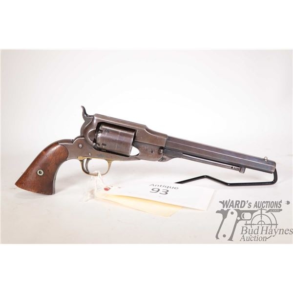 Antique handgun Remington-Beals model Navy Revolver, .36 Perc. six shot single action revolver, w/ b