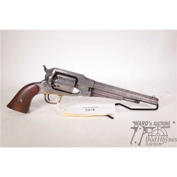Antique handgun Remington model New Model Army, .44 Perc. six shot single action revolver, w/ bbl le
