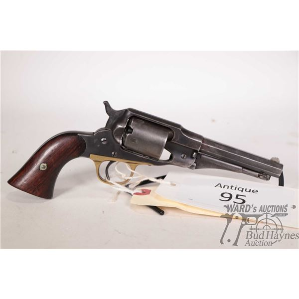 Antique handgun Remington model New Model Belt, .36 Perc. six shot single action revolver, w/ bbl le