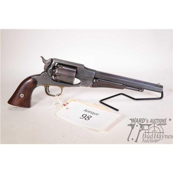 Antique handgun Remington model 1861 Army, .44 Perc. six shot single action revolver, w/ bbl length