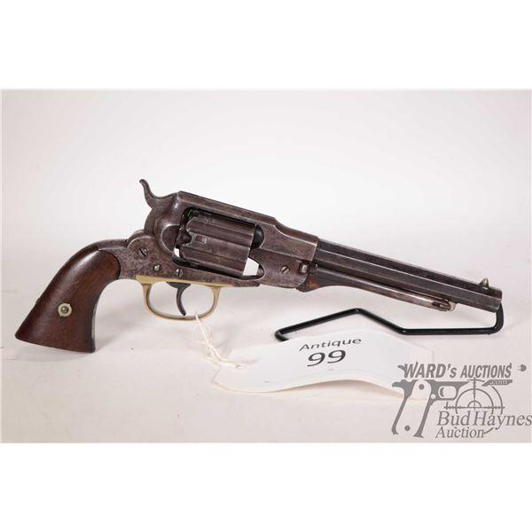 Antique handgun Remington-Rider model 1858 Belt Revolver, .36 Perc. six shot single action revolver,