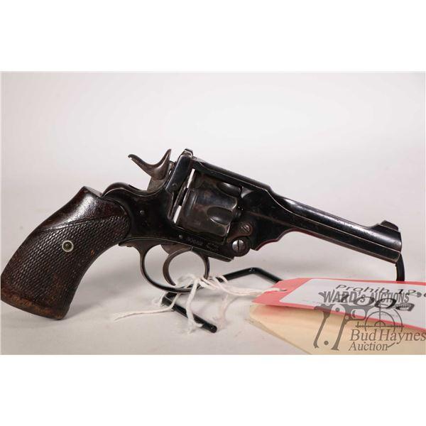 Prohib 12-6 handgun Webley & Scott model Mark III, 38 S&W six shot double action revolver, w/ bbl le