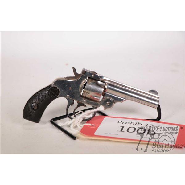 Prohib 12-6 handgun H&R model 1880, 32 S&W five shot double action revolver, w/ bbl length 76mm [Nic