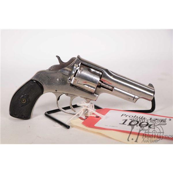 Prohib 12-6 handgun Iver Johnson model Swing Out, .38 S&W five shot double action revolver, w/ bbl l