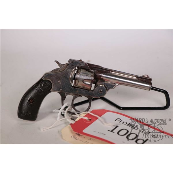 Prohib 12-6 handgun Iver Johnson model Safety Hammer Automatic M, .32 cal five shot double action re