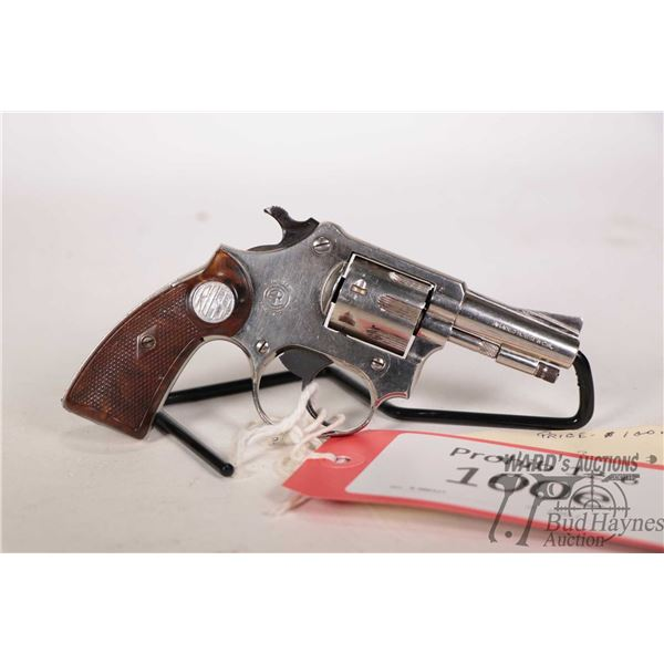 Prohib 12-6 handgun Rossi model 25, 22LR seven shot double action revolver, w/ bbl length 51mm [Nick