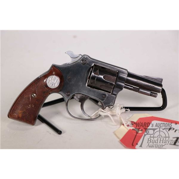Prohib 12-6 handgun Rossi model 25, 22LR seven shot double action revolver, w/ bbl length 51mm [Blue
