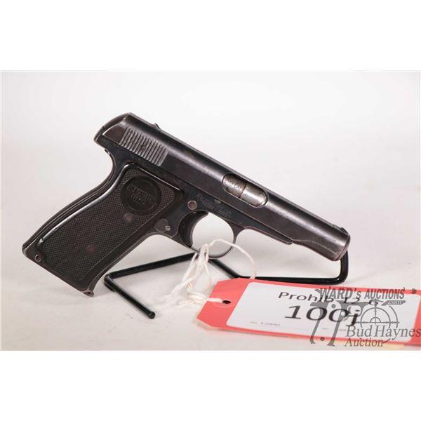 Prohib 12-6 handgun Remington model 51, 380 Cal seven shot semi automatic, w/ bbl length 89mm [Blued