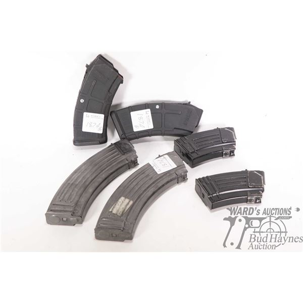 Six boxed magazines to fit lot 187 including two 20 rounds P mags, two 10 round stamp steel and two