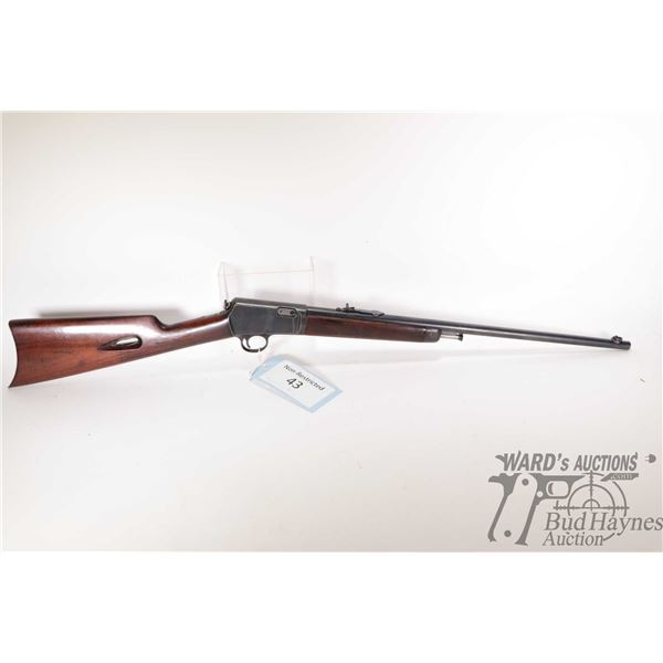 """Non-Restricted rifle Winchester model 1903, 22 auto semi automatic, w/ bbl length 20"""" [Blued barrel"""