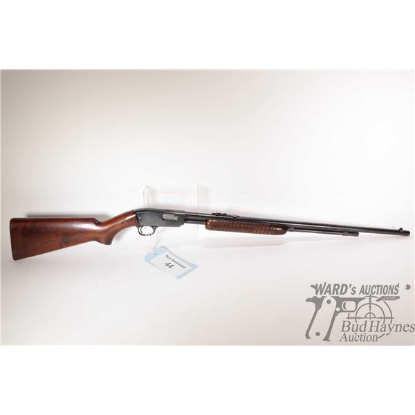 """Non-Restricted rifle Winchester model 61, 22 S-L-LR pump action, w/ bbl length 24"""" [Blued barrel and"""