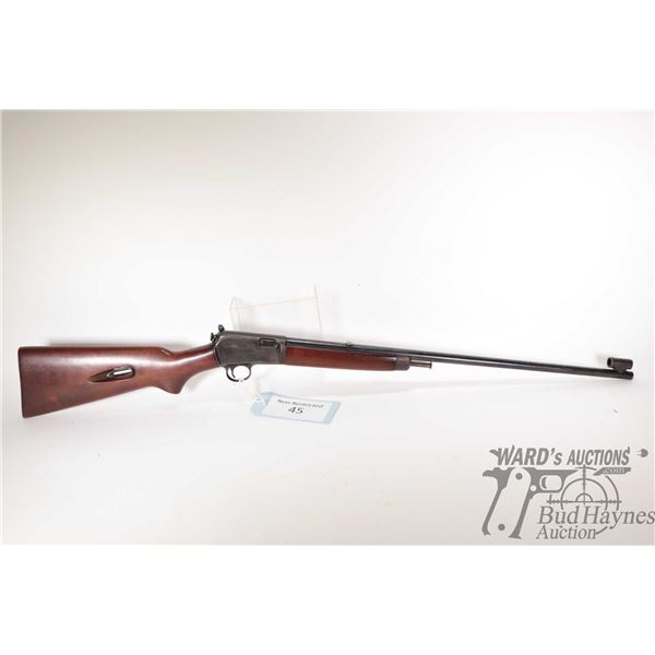 """Non-Restricted rifle Winchester model 63, 22LR semi automatic, w/ bbl length 23"""" [Blued barrel and r"""