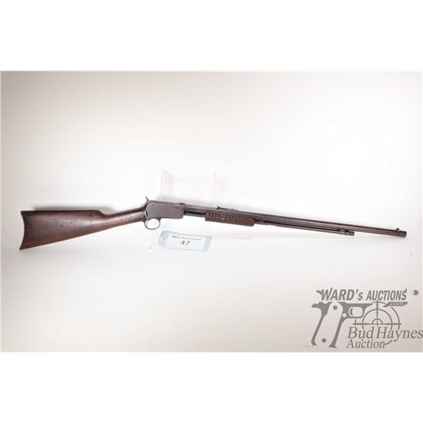 """Non-Restricted rifle Winchester model 90, 22 Short pump action, w/ bbl length 24"""" [Blued octagonal b"""