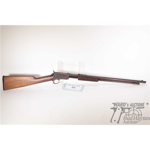 """Non-Restricted rifle Winchester model 1906, 22 S-L-LR pump action, w/ bbl length 20"""" [Blued barrel,"""