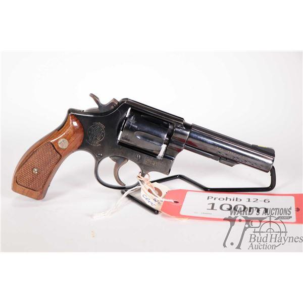 Prohib 12-6 handgun Smith & Wesson model 10-5, .38 Special six shot double action revolver, w/ bbl l