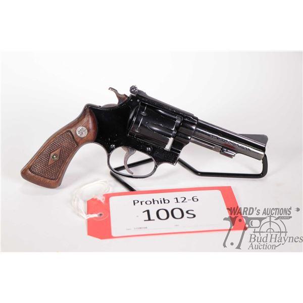 Prohib 12-6 handgun Smith & Wesson model 43, 22LR six shot double action revolver, w/ bbl length 89m