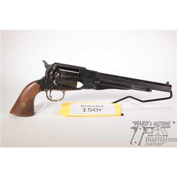 Restricted handgun Pietta model 1858 New Army, 44 Perc. six shot single action revolver, w/ bbl leng