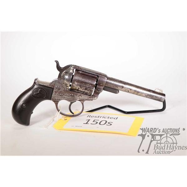 Restricted handgun Colt model 1877 DA Lightning, .38 CF six shot double action revolver, w/ bbl leng