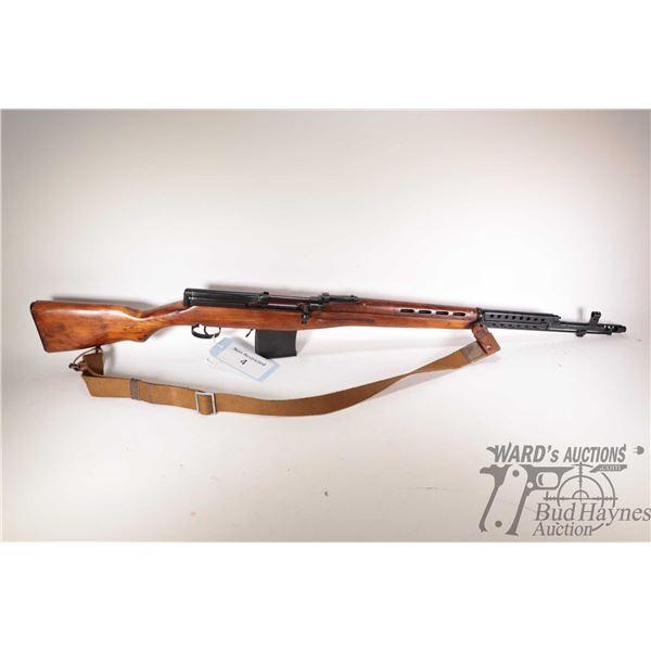 "Non-Restricted rifle Tokarev model SVT-40, 7.62x54r five shot semi automatic, w/ bbl length 24 1/2"""