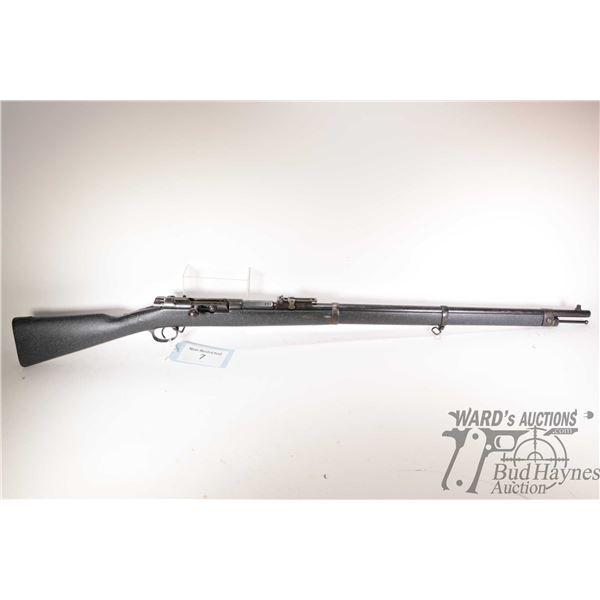 "Non-Restricted rifle Mauser Spandu model Model 71/84, 11mm Mauser bolt action, w/ bbl length 31 1/2"""