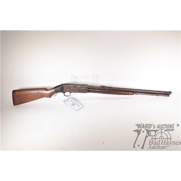 "Non-Restricted rifle Remington model 14, 44 Rem or 44 WCF pump action, w/ bbl length 22"" [Blued barr"