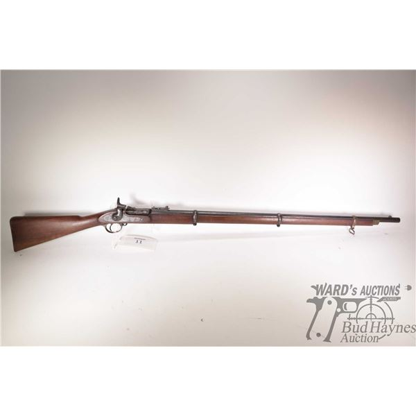"Antique rifle Enfield model 1867 MK II**, 577 Snider single shot breech block, w/ bbl length 36 1/2"""