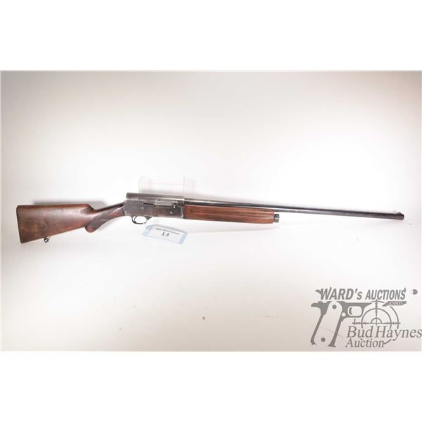 """Non-Restricted shotgun FN Browning model Auto 5, 12Ga 2 3/4"""" semi automatic, w/ bbl length 29 1/2"""" ["""