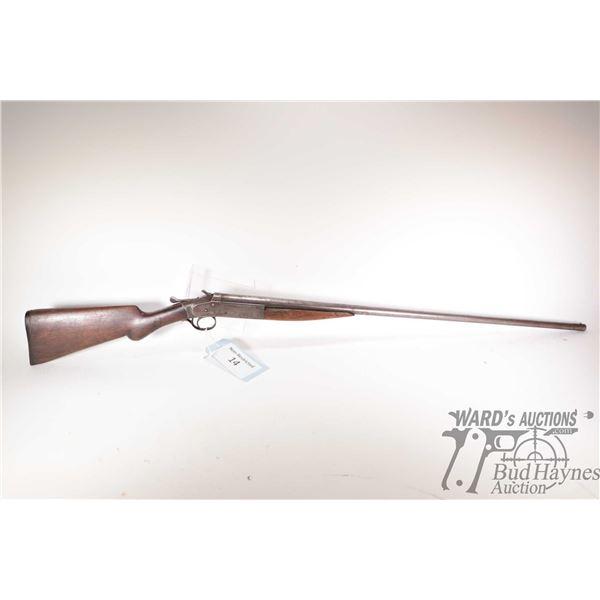 """Non-Restricted shotgun Iver-Johnson model Champion, 28Ga single shot hinge break, w/ bbl length 32"""""""
