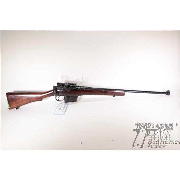 Non-Restricted rifle Lee Enfield model No 4 MK I *Long Branch, .303 Brit ten shot bolt action, w/ bb