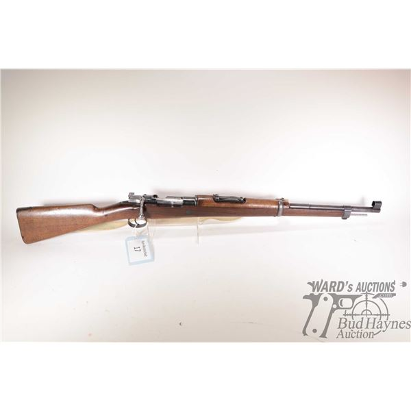 """Non-Restricted rifle Mauser model Short Rifle, 7.62 bolt action, w/ bbl length 22"""" [Blued barrel and"""